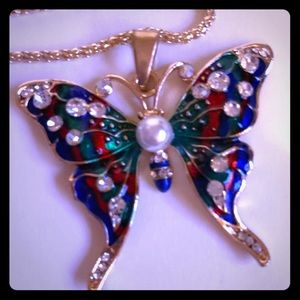 🦋 Butterfly Necklace by, Betsey Johnson